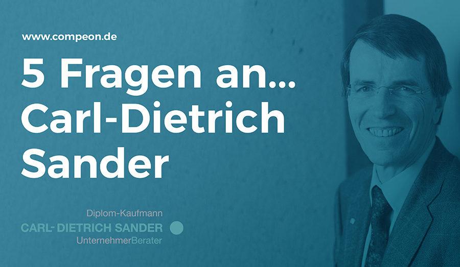 5 Fragen an... Carl-Dietrich Sander