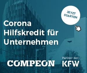Corona-Hilfskredit für mittelständische Unternehmen und Selbständige: Jetzt kostenloses compeon Angebot einholen (hier klicken)!